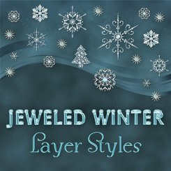 Jeweled Winter PS Layer Styles (CU)