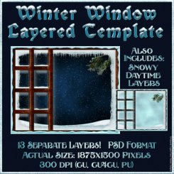Winter Window Layered Template (CU4CU)