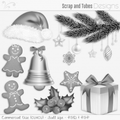 Happy Holidays Grayscaled Templates 2 (CU4CU)